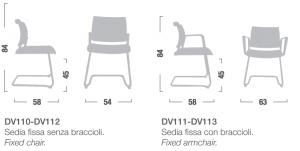 Dimensioni sedie fissa drive