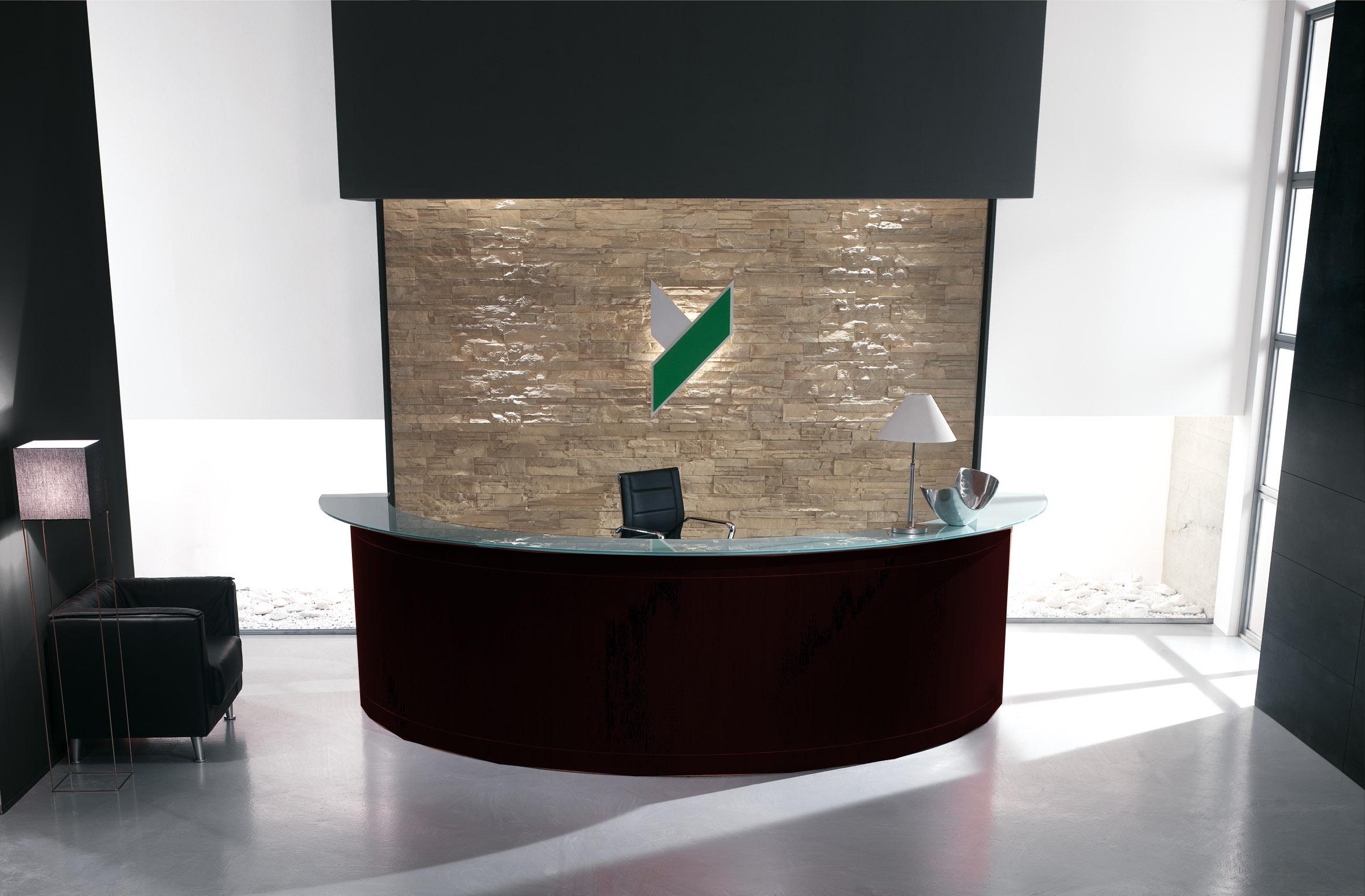 Reception Ufficio Bianco : Reception ufficio mezzaluna